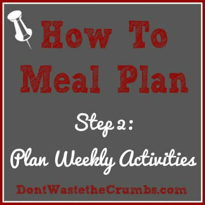 {How-To} Meal Plan, Step 2