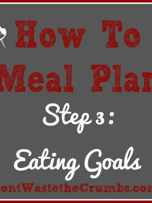 {How-To} Meal Plan, Step 3