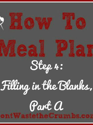 {How-To} Meal Plan, Step 4