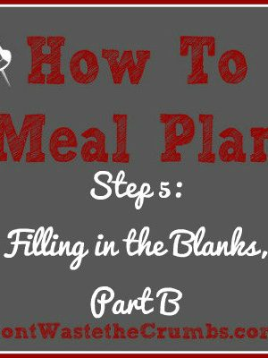 {How-To} Meal Plan, Step 5