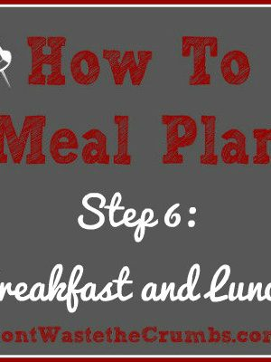 {How-To} Meal Plan, Step 6