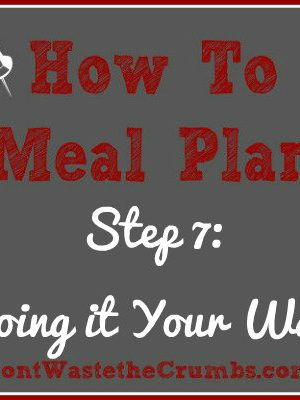 {How-To} Meal Plan, Step 7