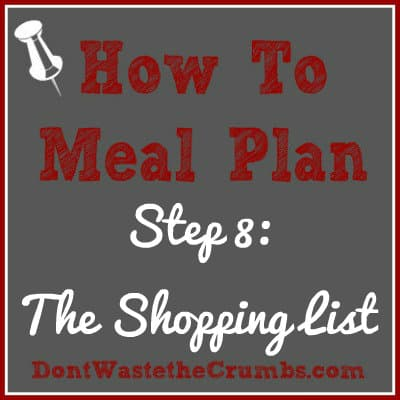 {How-To} Meal Plan, Step 8