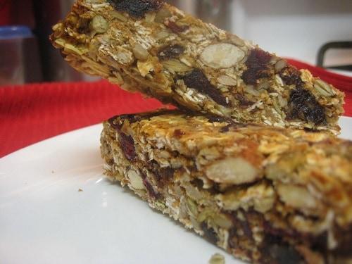Homemade Granola Bars Tilted