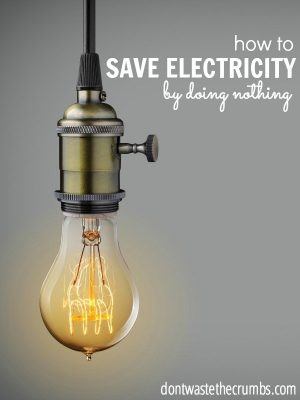 How to Save Electricity by Doing Nothing