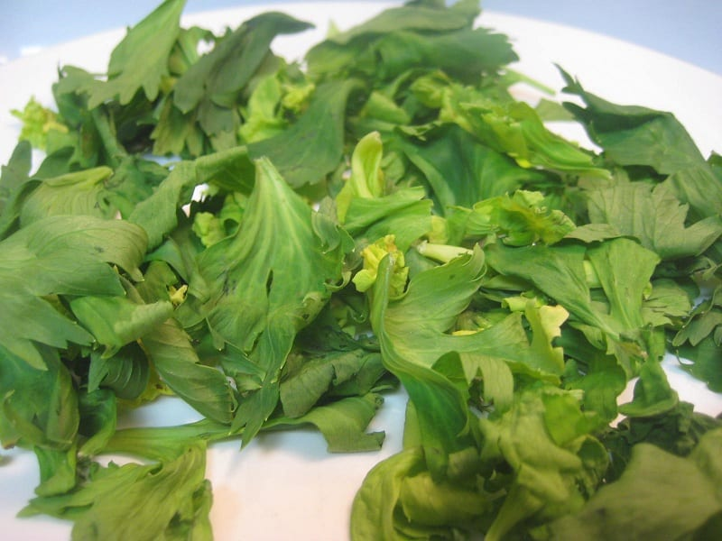 Celery Leaves Drying