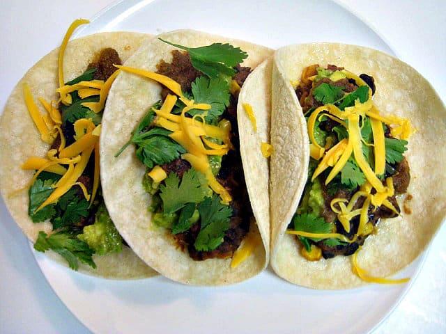 Black Bean Guacamole Tacos