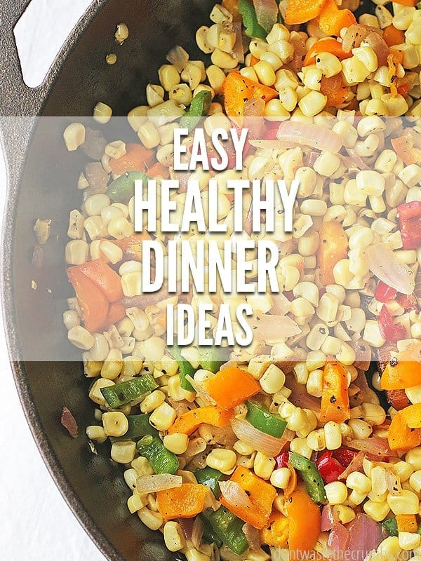 Healthy food dinner ideas to feed your family nutritious meals for a whole month. This plan is designed to feed a family of four for about $350. :: DontWastetheCrumbs.com