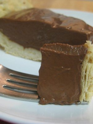 {Yummy} Recipe:  Chocolate Pie and its Beloved Pie Crust (Both from Scratch!)