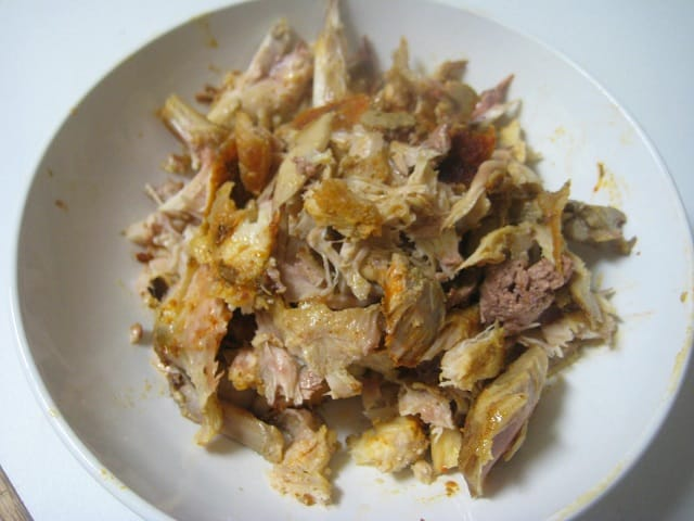 Cooked Chicken from Slow Cooker