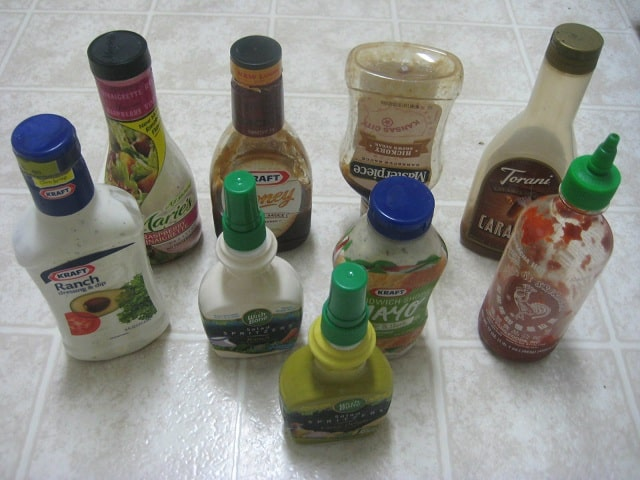 Various Bottled Dressings and Sauces