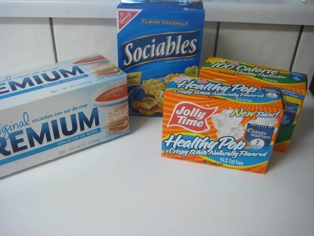 Saltines, Microwave Popcorn