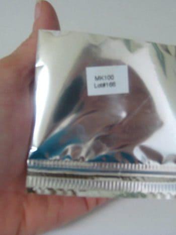 New Kefir Grains in Packet in Hand