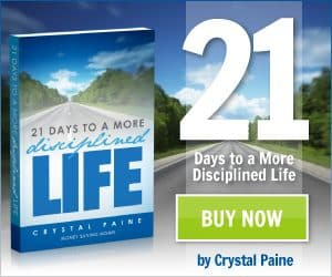 """""""21 Days to a More Disciplined Life"""" by Crystal Paine – a Review and 24 Hour Blitz Giveaway [CLOSED]"""