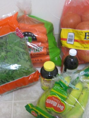 What does a frugal foodie do with her lottery winnings?  She grocery shops!