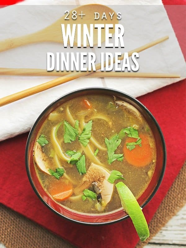 Winter dinner ideas to help you get through the busy holiday season. Feed your family for $350 a month with this easy meal plan! :: DontWastetheCrumbs.com