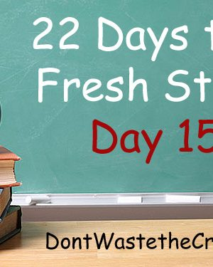 Fresh Start Day 15:  Make Something From Scratch (skip the box!)