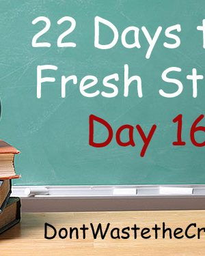 Fresh Start Day 16:  Ditch High-Fructose Corn Syrup (which ISN'T sugar) and a Giveaway Winner