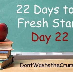 Fresh Start Day 22:  Don't Give Up (keep making baby steps!)