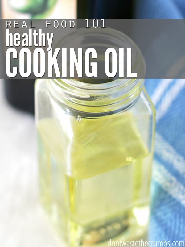 Get the scoop on finding a healthy cooking oil for your kitchen! We dive into the major and minor types of oils that used in everyday cooking, and discuss what you should be using in your kitchen:: DontWasteTheCrumbs.com