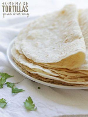 Homemade Flour Tortillas (3 ingredients)
