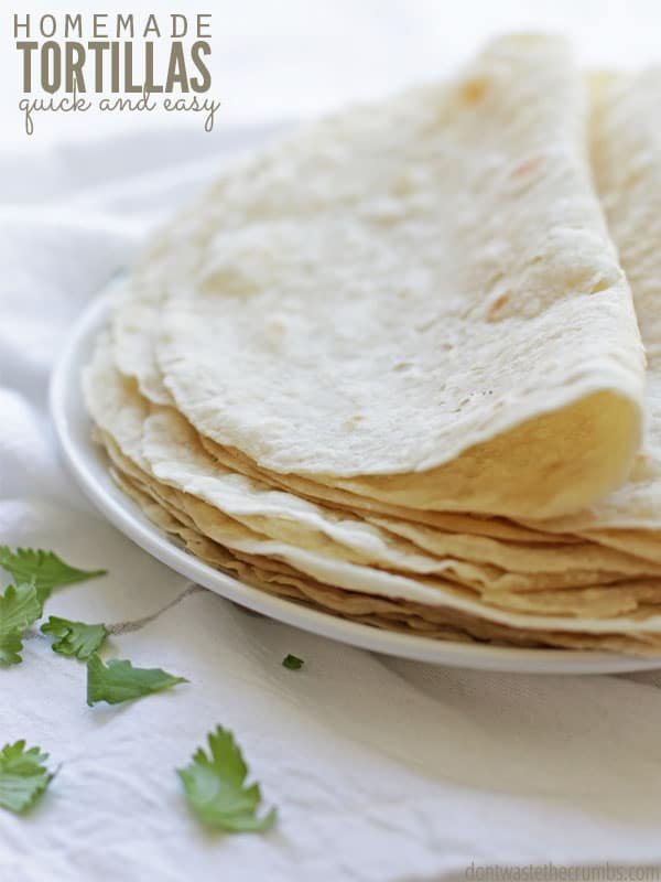Homemade Flour Tortillas Even Better Than Store Bought