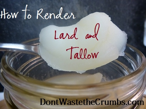How to Render Lard and Tallow