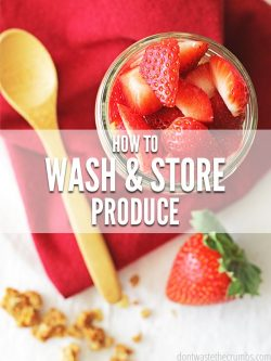 Wondering how to keep fruit fresh longer? It's all in how you wash and store! Use this natural apple cider vinegar fruit wash and learn how to store your produce.