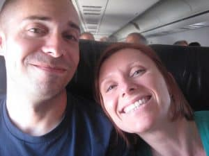 Mr and Mrs on a Plane
