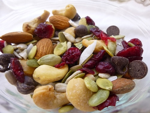 High Protein Sweet and Salty Trail Mix Close Up