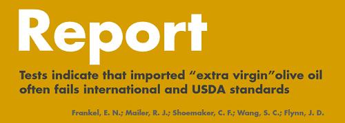 UC Davis Olive Oil Report