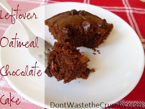 Leftover Oatmeal Chocolate Cake