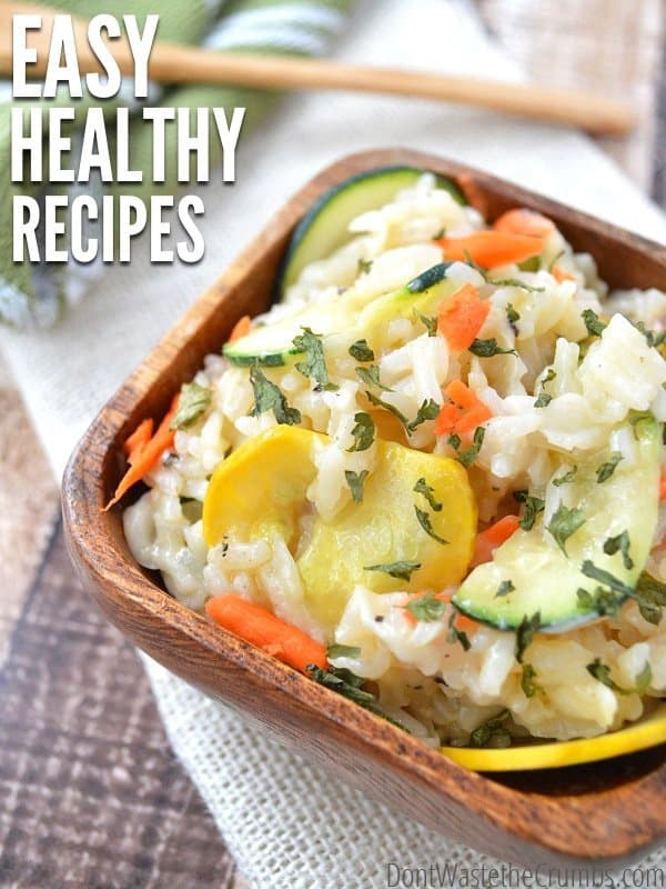 Enjoy these easy healthy recipes this summer when the days get busy! This full month meal plan will feed a family of four for about $350! :: DontWastetheCrumbs.com