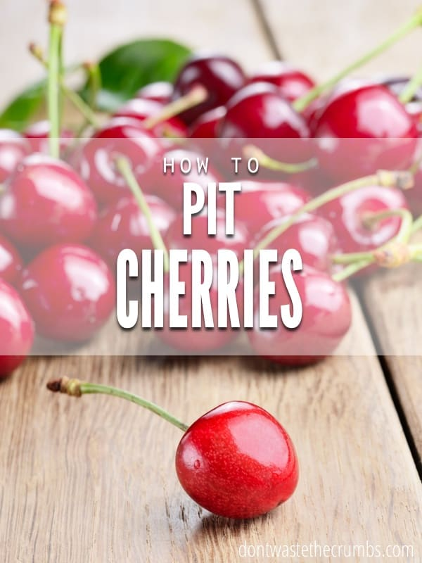 How to Remove the Pit From a Cherry. Don't waste money on special tools when it's so easy to do on your own in just three easy steps. :: DontWastetheCrumbs.com