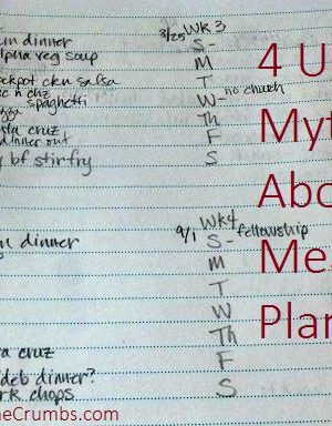 4 Ugly Myths About Meal Planning