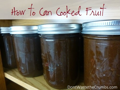 How to Can Cooked Fruit 2