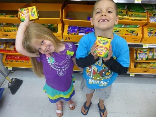 Kids School Supply Shopping