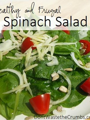 Spinach Salad: Healthy and Frugal Recipe