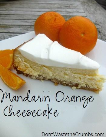 {Yummy} Recipe:  Mandarin Orange Cheesecake