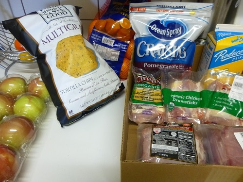 Read how one family shops for real food on just $330/month in their grocery budget accountability. The budget includes food and toiletries for four people! :: DontWastetheCrumbs.com