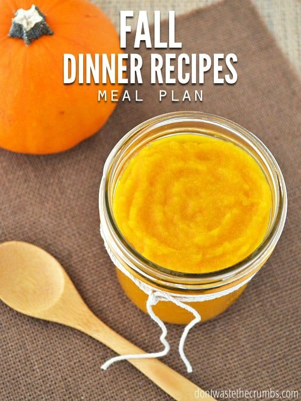 Feed your family healthy food with these fall dinner recipes for the whole month without going broke! This meal plan feeds a family of four for about $350. :: DontWastetheCrumbs.com