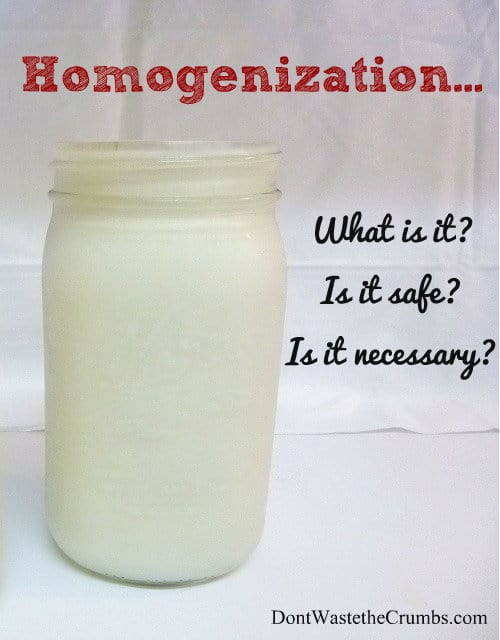 What is Homogenization? Is it Safe? Is it Necessary? Basic questions are explored and answered, drawing unexpected conclusions! :: DontWastetheCrumbs.com