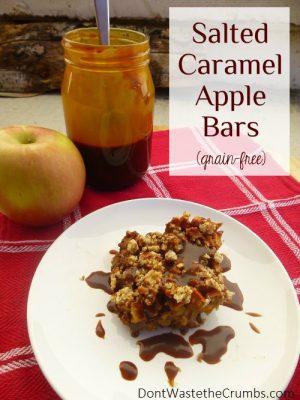 {Yummy} Recipe:  Salted Caramel Apple Bars (grain-free)