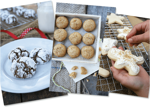 12 delicious and healthy Christmas cookie recipes, plus a bonus honeyed buttercream frosting recipe to adorn your new, healthier sugar and butter cookies! :: DontWastetheCrumbs.com
