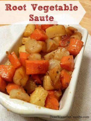 Recipe:  Root Vegetable Saute