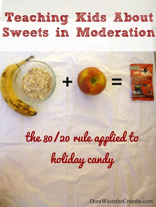 The 80/20 Rule and How to Enjoy Sweets in Moderation, plus teaching kids about sugar and implementing simple rules to limit sugar without limiting fun. :: DontWastetheCrumbs.com