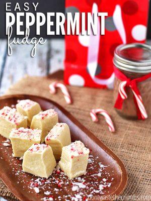 White Chocolate Peppermint Fudge (DF, GF)