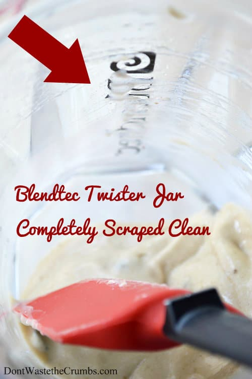 the 16 ounce Blendtec Twister Jar was designed to blend super thick recipes like nut butters, ice cream or hummus. Check out this comprehensive review. :: DontWastetheCrumbs.com
