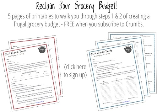 Reclaim Your Budget - Frugal Grocery Budget Downloads | DontWastetheCrumbs.com