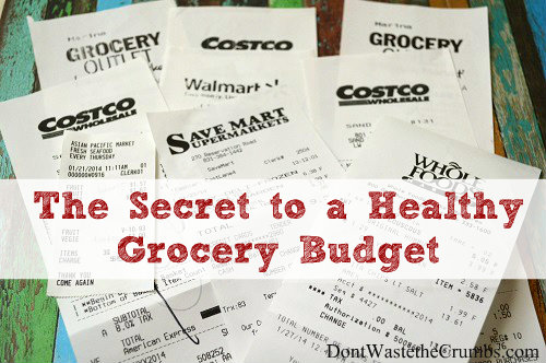 After cutting our spending by 50% and spending the least amount on groceries ever, I have just one tip for a healthy grocery budget… :: DontWastetheCrumbs.com